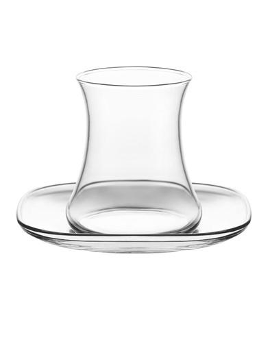 Lav Lal Keyf Çay Bardak Seti Takımı - Çay Bardağı - Tabağı Takımı 12 Prç. Renkli